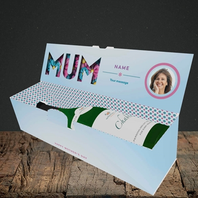 Picture of Mum You Are The Best (flower cut out), Lay-down Bottle Box