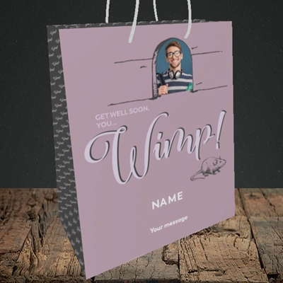 Picture of Wimp!, Get Well Soon Design, Medium Portrait Gift Bag