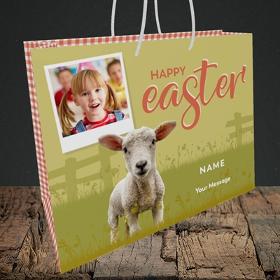 Picture of Lamb To See You, Easter Design, Medium Landscape Gift Bag
