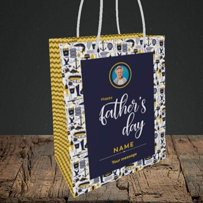 Picture of Seaside, Father's Day Design, Small Portrait Gift Bag