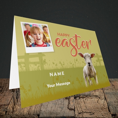 Picture of Lamb To See You, Easter Design, Landscape Greetings Card