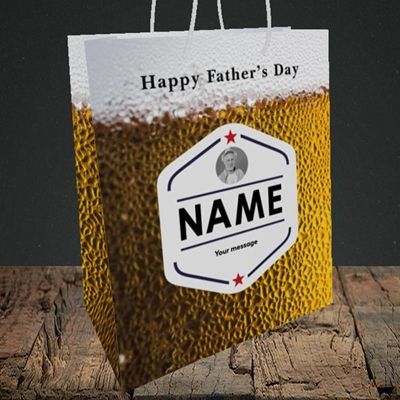 Picture of Premium Father, Father's Day Design, Medium Portrait Gift Bag