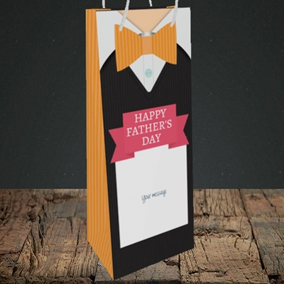 Picture of Bowtie(Without Photo), Father's Day Design, Bottle Bag