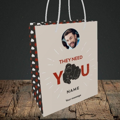 Picture of They Need You, New Job Design, Small portrait Gift Bag