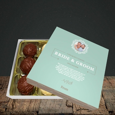 Picture of Traditional Foliage Teal B&G, Wedding Design, Choc 9