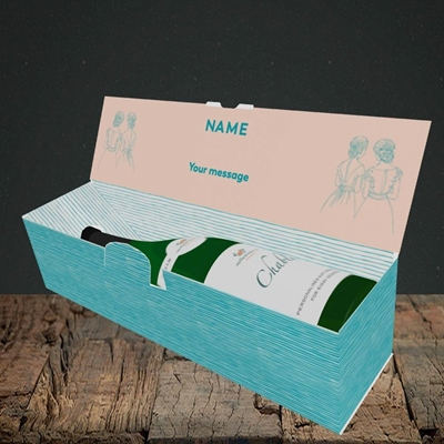 Picture of Be My Bridesmaid(Without Photo), Wedding Design, Lay-down Bottle Box