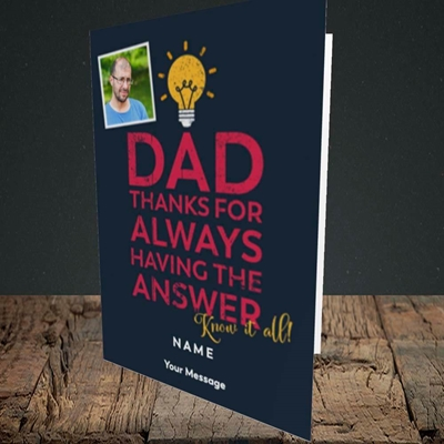 Picture of Know It All, Father's Day Design, Portrait Greetings Card
