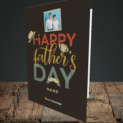 Picture of Retro, Father's Day Design, Portrait Greetings Card
