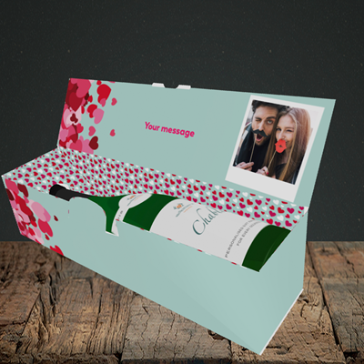 Picture of Favourite Husband, Valentine's Design, Lay-down Bottle Box