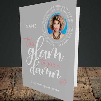 Picture of Glam, Birthday Design, Portrait Greetings Card