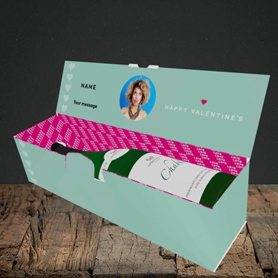 Picture of Never Let Our Love Be Apart, Valentine's Design, Lay-down Bottle Box