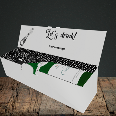 Picture of Let's Drink(Without Photo), New Year Design, Lay-down Bottle Box