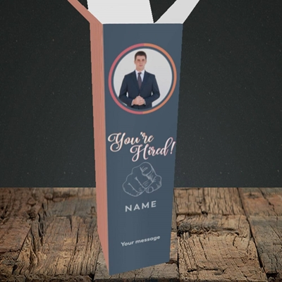 Picture of You're Hired, New Job Design, Upright Bottle Box