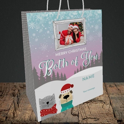 Picture of Both Of You, Christmas Design, Medium Portrait Gift Bag