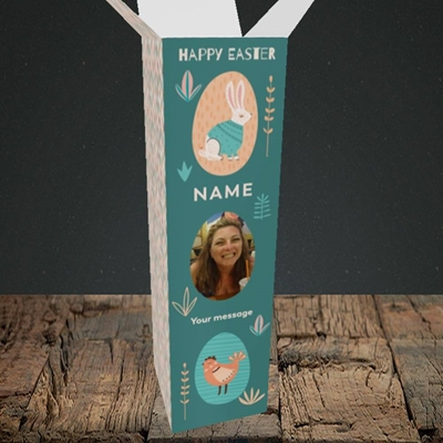 Picture of Easter Egg Farm, Easter Design, Upright Bottle Box