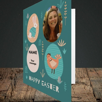 Picture of Easter Egg Farm, Easter Design, Portrait Greetings Card