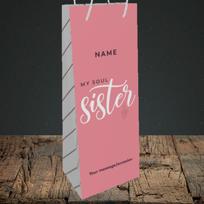 Picture of Soul Sister, (Without Photo) Birthday Design, Bottle Bag