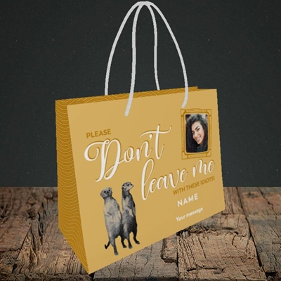 Picture of Don't Leave Me, Leaving Design, Small Landscape Gift Bag