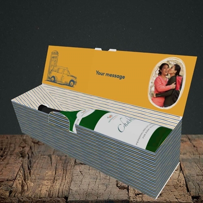 Picture of Taxi, Mother's Day Design, Lay-down Bottle Box