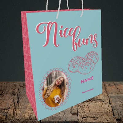 Picture of Nice Buns, Easter Design, Medium Portrait Gift Bag