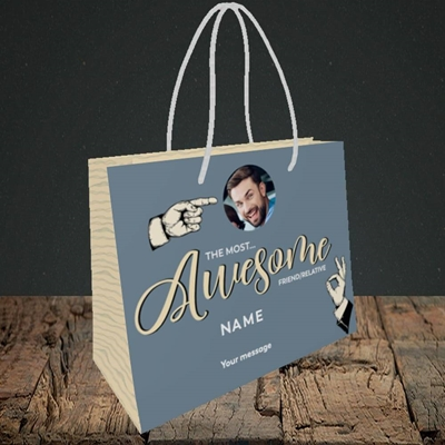 Picture of Awesome Person, Thank You Design, Small Landscape Gift Bag