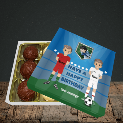 Picture of Football, Birthday Design, Choc 9