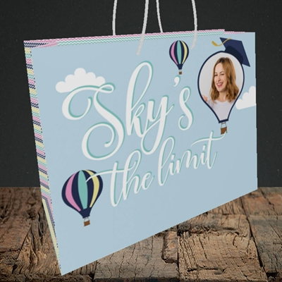 Picture of Sky's the Limit, Graduation Design, Medium Landscape Gift Bag
