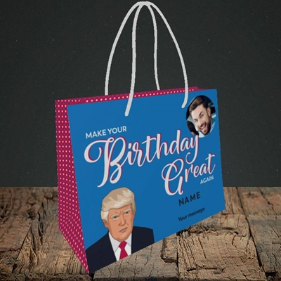 Picture of A Trump Birthday, Birthday Design, Small Landscape Gift Bag