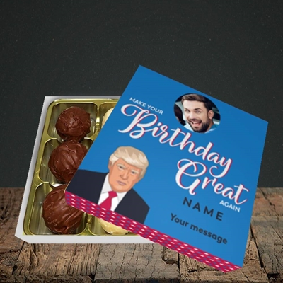 Picture of A Trump Birthday, Birthday Design, Choc 9