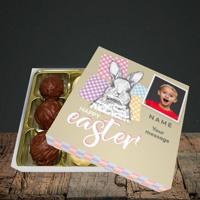 Picture of Patchwork Rabbit, Easter Design, Choc 9