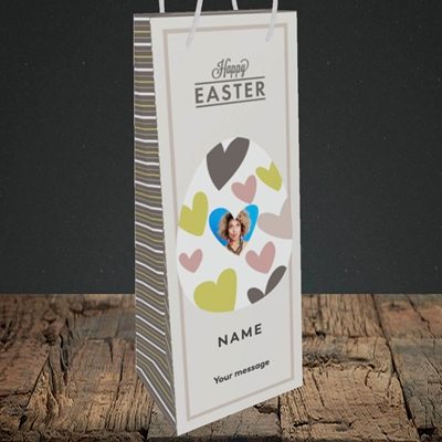 Picture of Egg Of Hearts, Easter Design, Bottle Bag