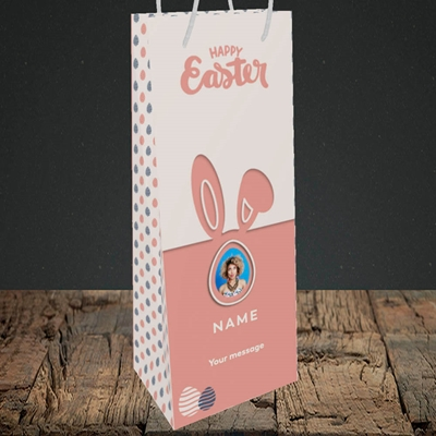 Picture of Ears & Egg, Easter Design, Bottle Bag